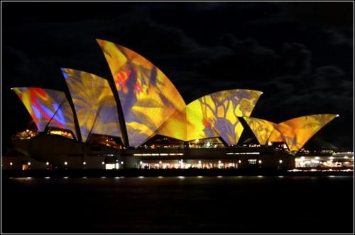 Lighting the Sails: световые инсталляции в Сиднее