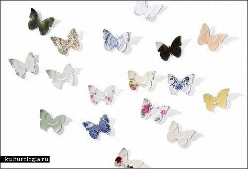 Разбитое блюдце, превратившееся в бабочку