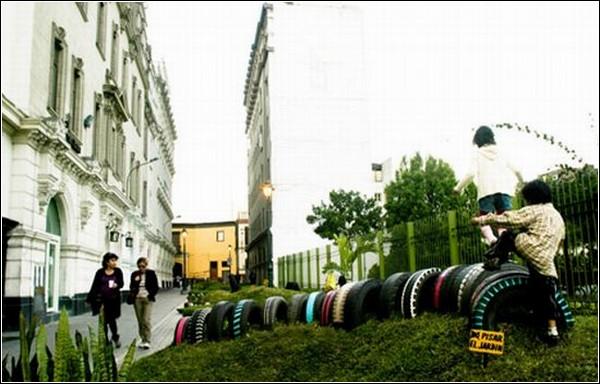 Инсталляция, превратившая исторический центр Лимы в парк