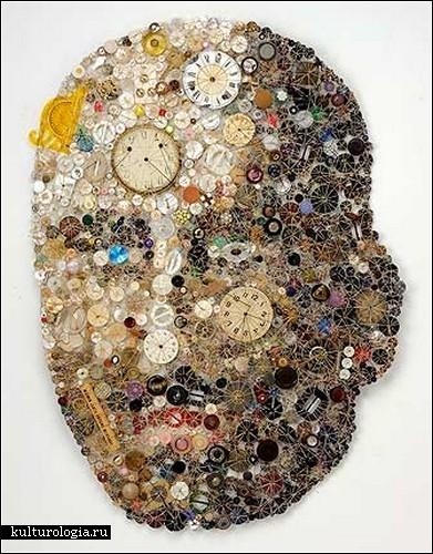 Пуговичный арт от Лизы Кокин
