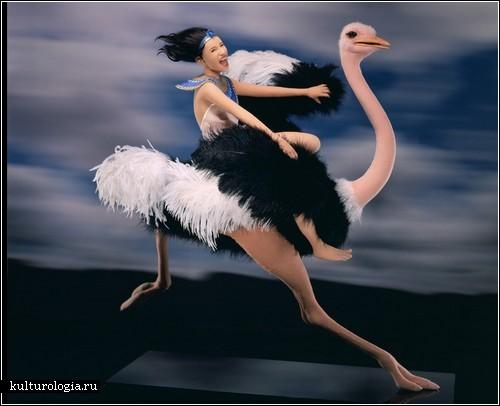 Нейлоновые скульптуры Лизы Лихтенфельс