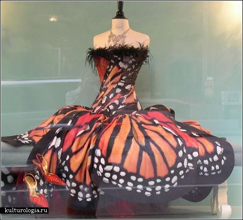 Бабочки на платье красиво