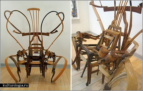 Скульптуры из стульев от Марка Андре Робинсона