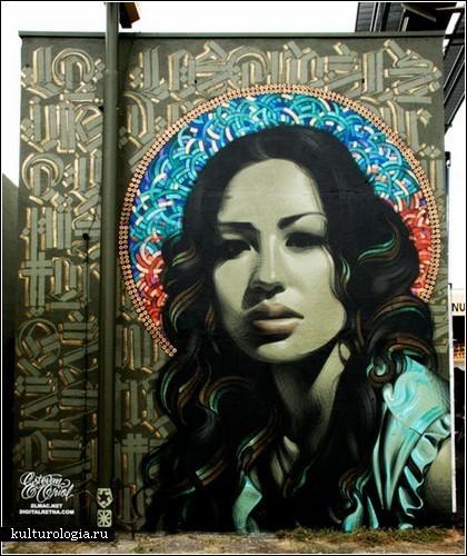 Уличные богини от мастеров граффити The Mac и Retna