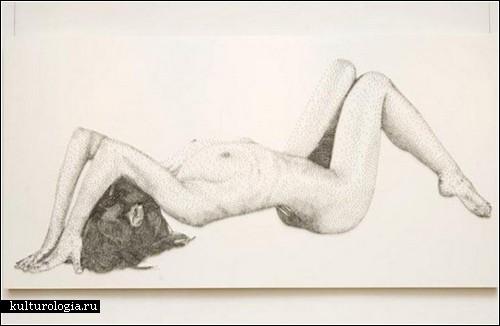 Скульптуры из гвоздей Маркуса Левина