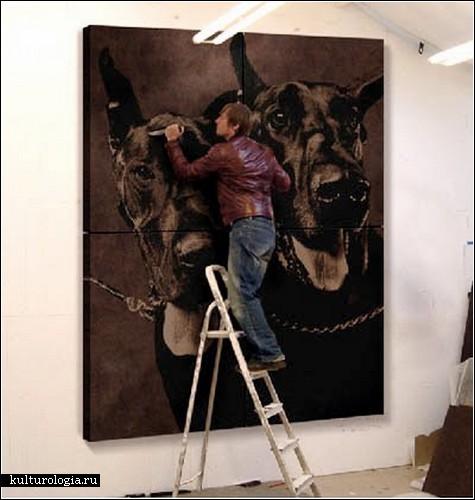 Mark Evans - рисунки на коже.