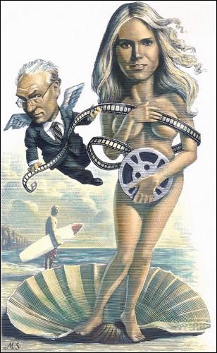 Карикатуры в технике скретчборда от Марка Саммерза