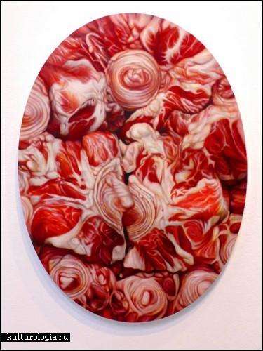 Сырое мясо на картинах: живопись Виктории Рейнольдс