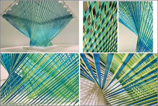 Архитектурные инсталляции из оградительных лент