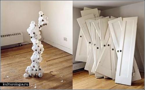 Скульптуры из стройматериалов и фурнитуры в проекте «Memorandoms»