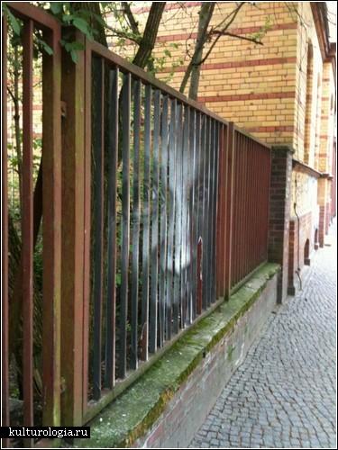 Заборы с секретом. Стрит-арт от Mentalgassi