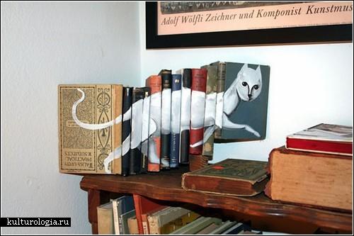 Рисунки на книгах от Майка Стилки