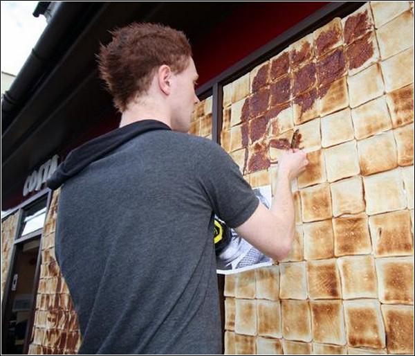 Рисунки джемом на тостах от Натана Уиберна