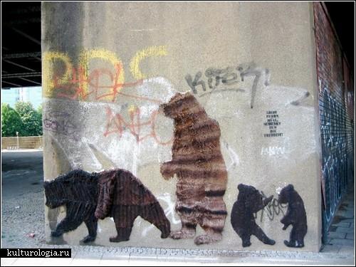 Граффити из меха от Neozoon
