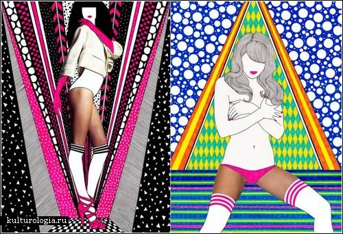 «Mixed Media Girls» - яркие коллажи Nikki Farquharson