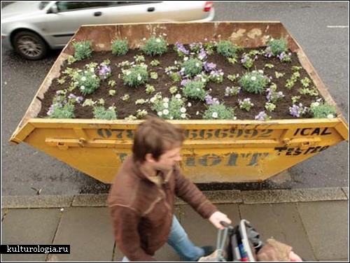Новая жизнь мусорных контейнеров в проекте Оливера Бишоп-Янга