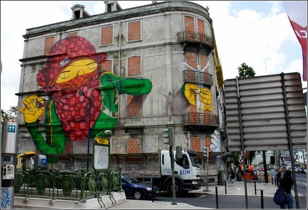 Бразильский стрит-арт в исполнении «Os Gеmeos»