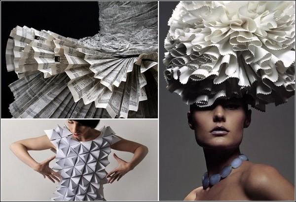Самые красивые и необычные платья из бумаги 20