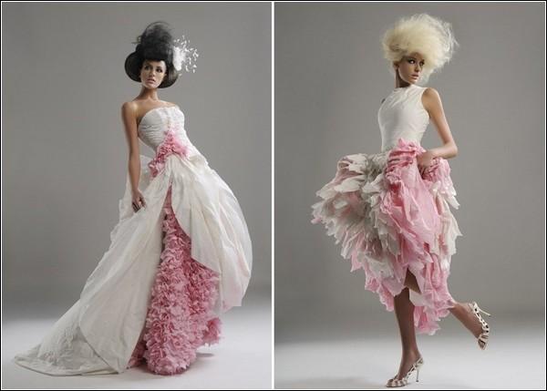 Самые красивые и необычные платья из бумаги 22