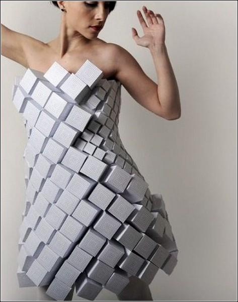 Как делаю платья из бумаги