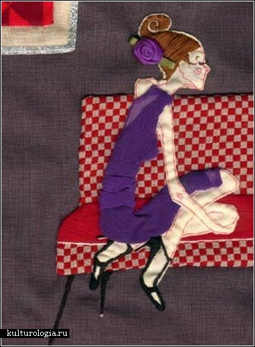 Иллюстрации, сшитые из ткани