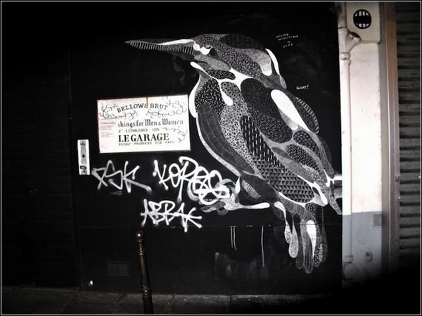 Меловые граффити Филипа Боделока