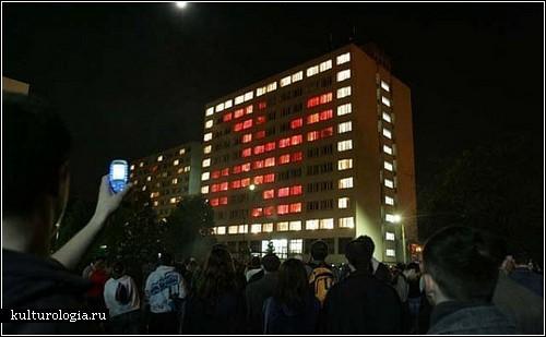 «The P.I.W.O Project». Световая инсталляция в студенческом общежитии
