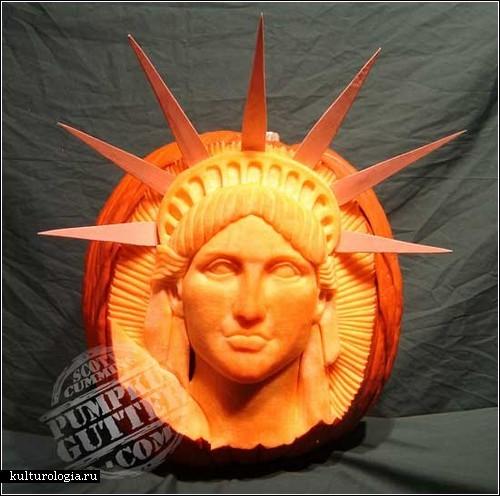 Тыквенные скульптуры Скотта Камминза