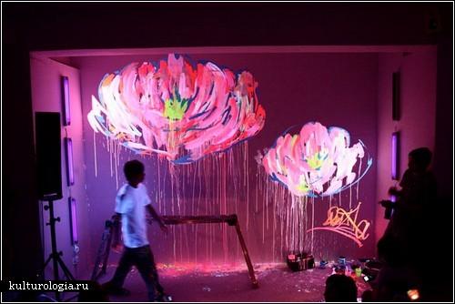 Светящиеся граффити от Que Houxo