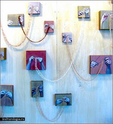 «Knit Painting»: вязание плюс живопись от Рании Хассан