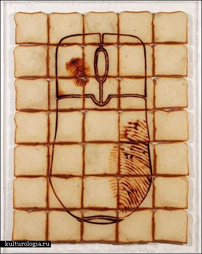 Картины из тостов от Дэвида Рэймондо