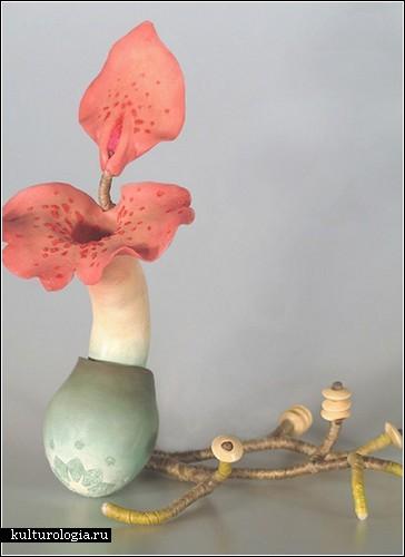 Скульптуры Рене Адамс: странная биология