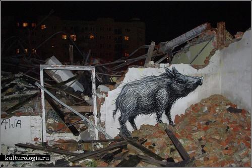 Стрит-арт ROA: назад, к природе