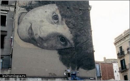 Гигантские портреты на стенах домов: проект Jorge Rodriguez-Gerada