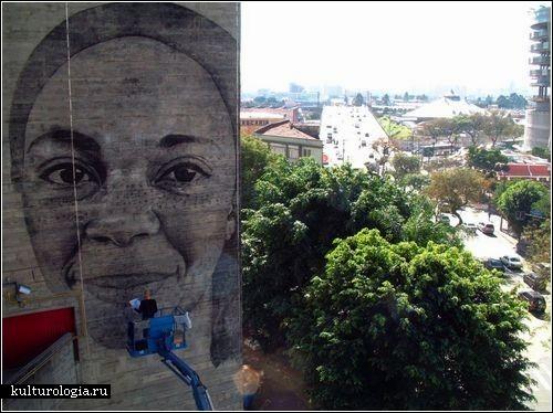 <br>Гигантские портреты на стенах домов: проект Jorge Rodriguez-Gerada