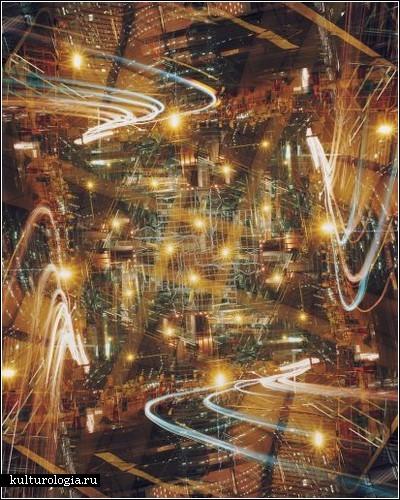Трафик в ночном городе. Фотоработы Саманты Тио