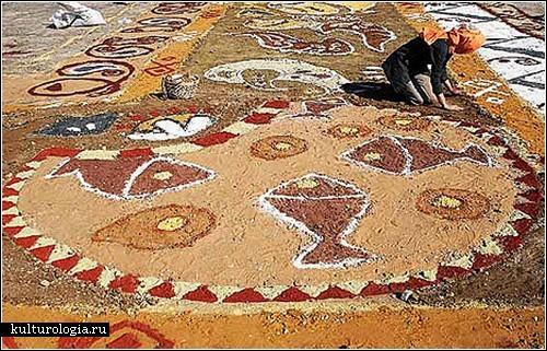 Самый большой в мире ковер из песка