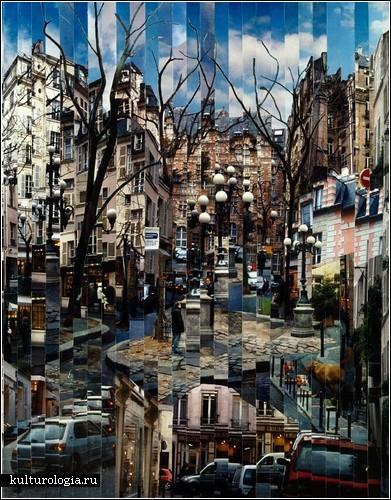 Большие города в фотоколлажах Сержа Менджийского