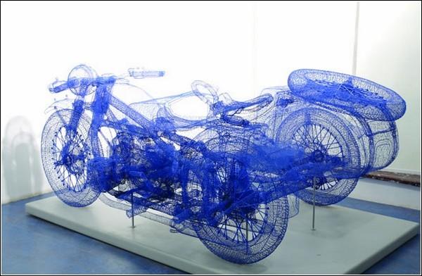 Проволочные скульптуры Shi Jindian