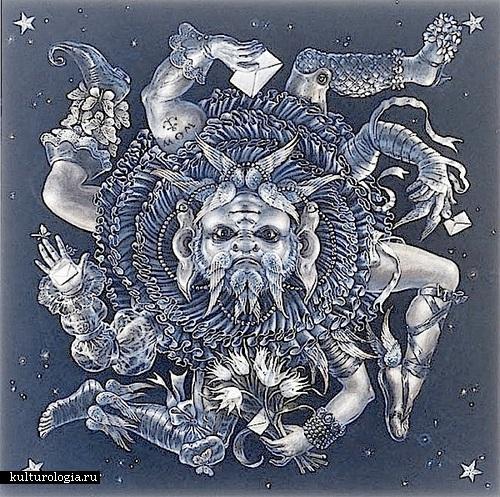 Меркурий. Солнечная система художника иллюстратора Томаса Вудраффа