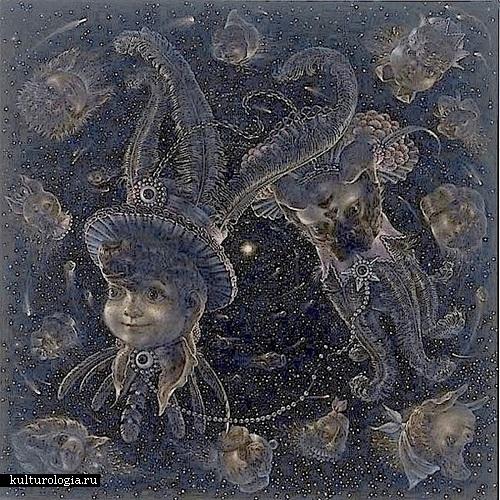 Плутон. Солнечная система художника иллюстратора Томаса Вудраффа