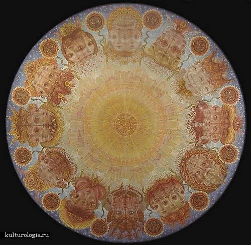 Солнце. Солнечная система художника иллюстратора Томаса Вудраффа
