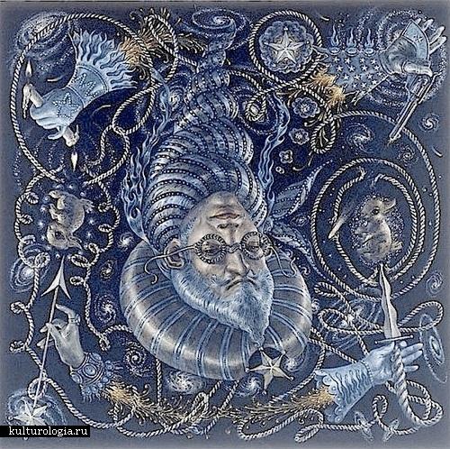 Уран. Солнечная система художника иллюстратора Томаса Вудраффа