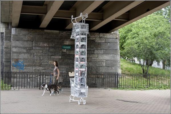 «Shopping Cart Sculptures» от Specter