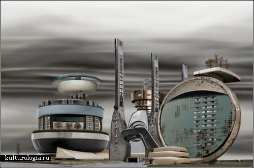 Городские пейзажи в стиле стимпанк от Дэвида Траутримаса