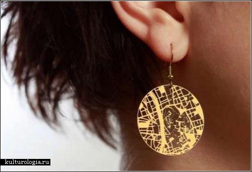 Streets Earrings – креативные украшения с уклоном в географию