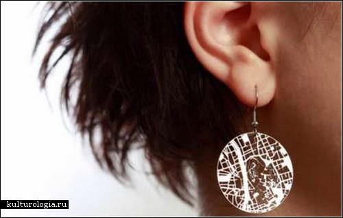 <br>Streets Earrings – креативные украшения с уклоном в географию