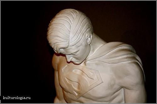 Скульптуры Адриана Транкуилли: супергерои тоже плачут