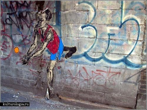 Бумажные лица на стенах домов. Творчество мастера стрит-арта Swoon