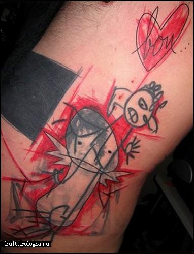 Необычные татуировки от Yann Travaille